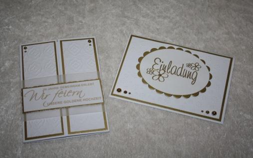 Einladungskarten Zur Goldenen Hochzeit Muster Papier
