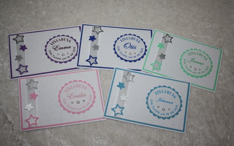 Ab Sofort Auch Online In Unserem Dawanda Shop : Einladungskarte Zur Taufe  U201eSterneu201c